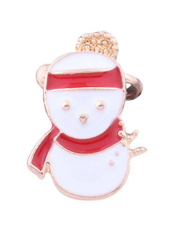 womens Christmas Snowman Ear Cuff - WHITE