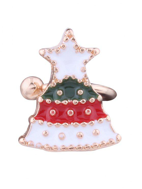Pun ¢ o del oído de la estrella del árbol de navidad - Blanco