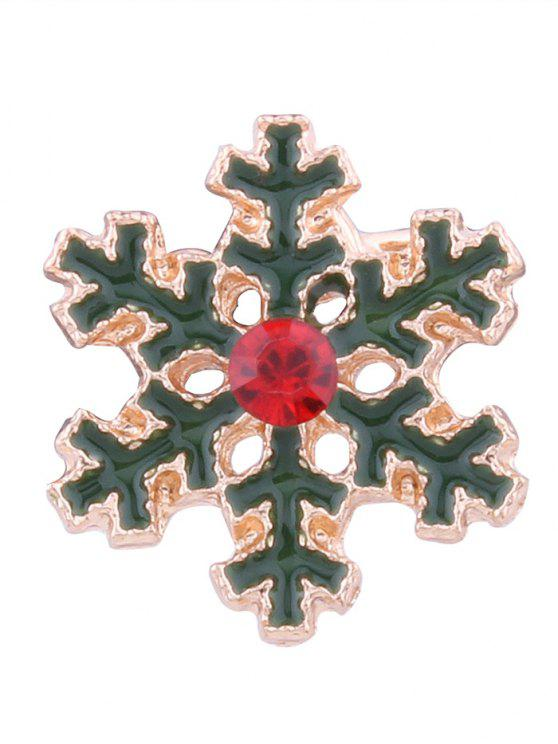 women's Rhinestone Christmas Snowflake Ear Cuff - GREEN