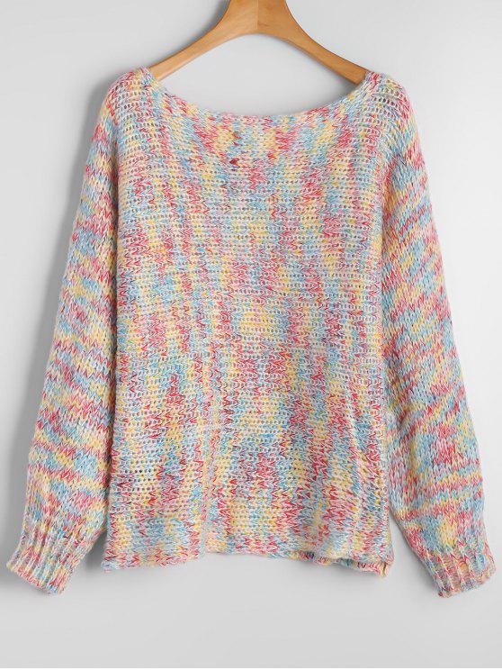 Chunky colorido suéter de Heathered - COLORIDO Única Talla