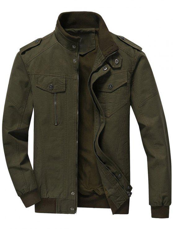 Jaqueta com fecho para homem - Verde 3XL
