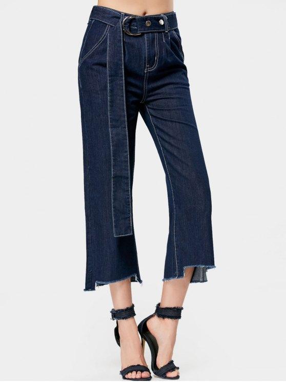 Cinturón alto bajo bajo de pantalones vaqueros - Denim Blue S