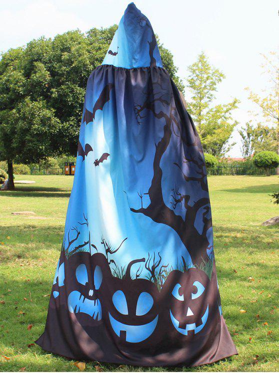 Capa mágica de impressão do Dia das Bruxas - Azul