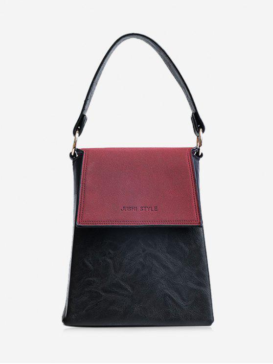 Embalaje de cuero de color falso bolso de cuero - Vino Rojo