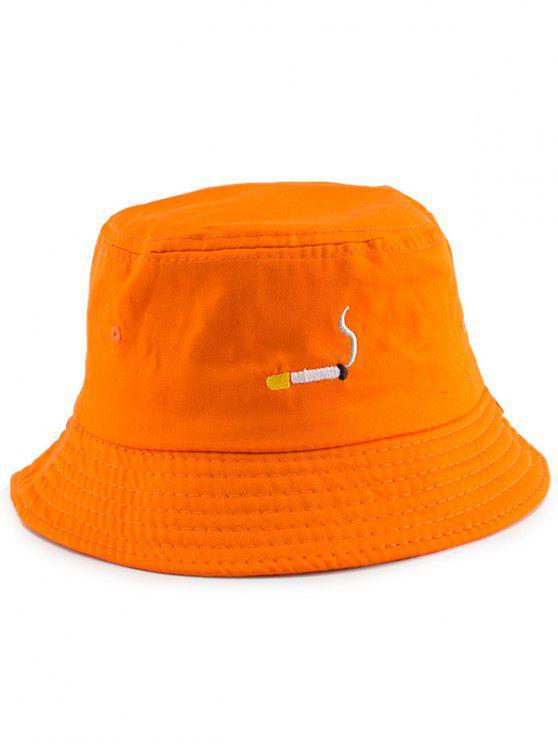لا كايل قبعة دلو التطريز - البرتقالي