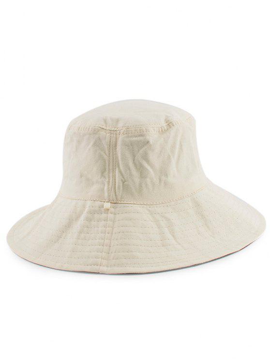 Chapéu de balde simples reversível - Branco