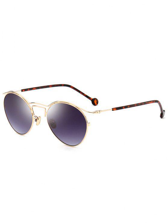 Retro Pilot Óculos de sol com moldura de metal - Moldura Dourada + Lente Cinza