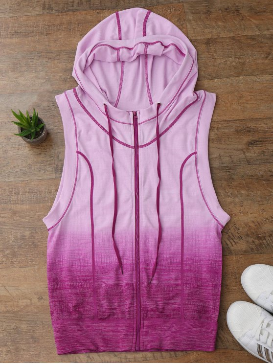 Ombre Hooded Top - Pourpre L