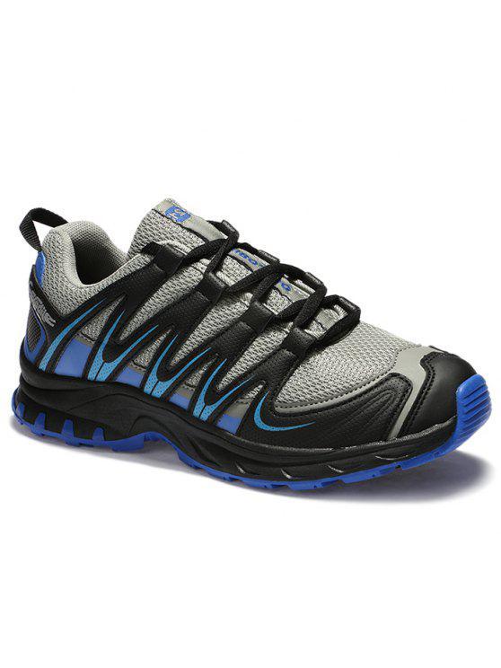 اللون كتلة المشارب شبكة الأحذية عارضة - أسود ورمادي 45