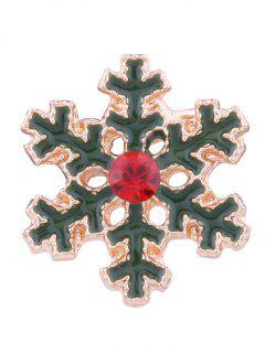 Rhinestone Christmas Snowflake Ear Cuff - Green