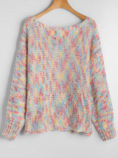 Chunky Colorful Heathered Sweater