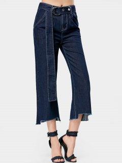 Jeans à Jambe Large - Denim Bleu S