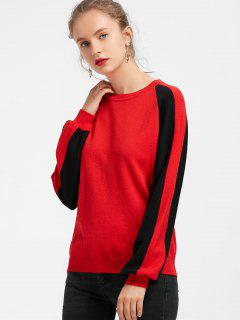 Sweat Color Block Manches Raglan - Rouge