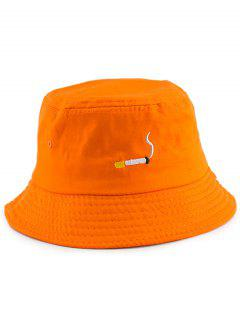 NO CAILL Embroidery Bucket Hat - Orange