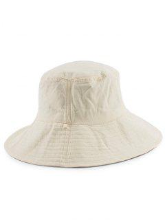 Reversible Plain Bucket Hat - White