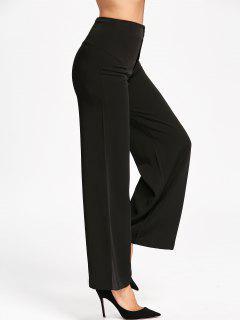 Wide Leg Suit Pants - Black 2xl