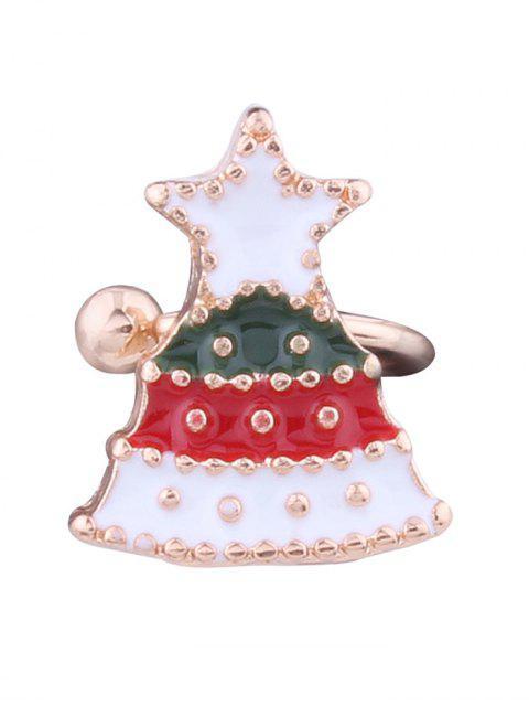 Pun ¢ o del oído de la estrella del árbol de navidad - Blanco  Mobile