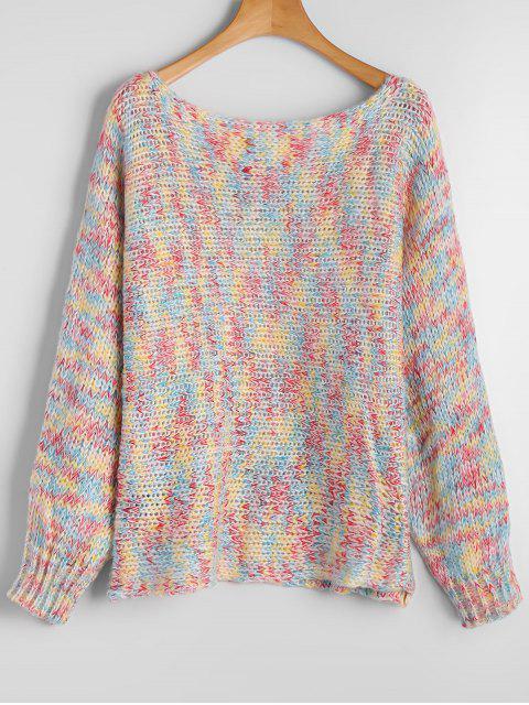 Chunky colorido suéter de Heathered - COLORIDO Única Talla Mobile