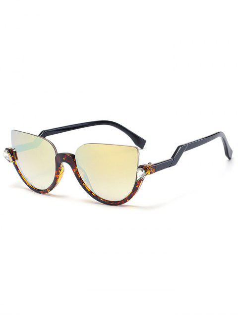 Gafas de sol de medias gafas de gato - Lente de Leopardo Color de Oro  Mobile