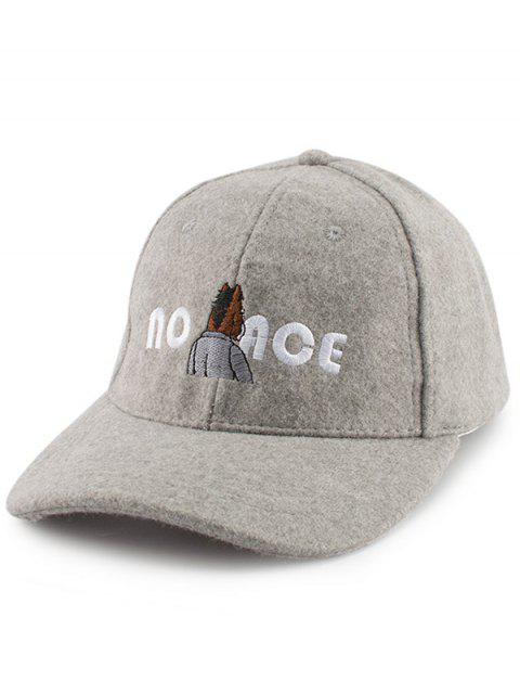 La figura de la historieta dibuja el sombrero de béisbol del fieltro del bordado - Gris  Mobile
