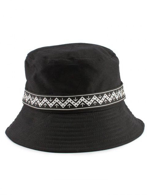 buy Zigzag Pattern Band Bucket Hat - BLACK  Mobile