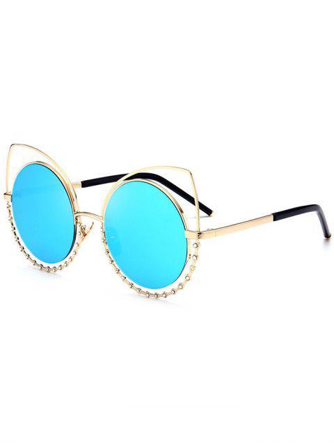 Lunettes de soleil en alliage - Or Cadre + Objectifs Bleu  Mobile