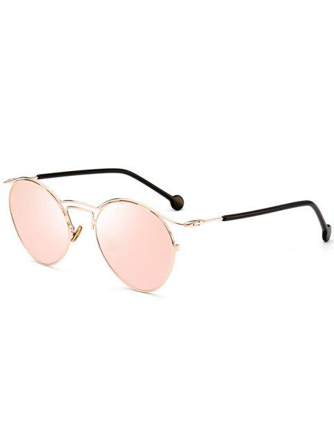 sale Retro Pilot Sunglasses with Metal Frame - GOLD FRAME + PINK LENS  Mobile