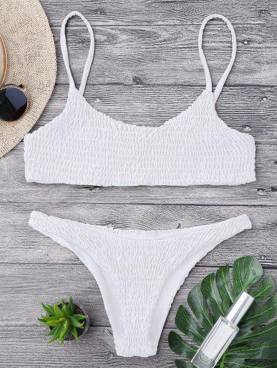 99bc47acd52e7 Smocked Bikini Top And Bottoms - White S