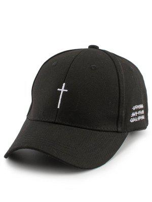 Small Cross Embroidery Baseball Hat with Tail