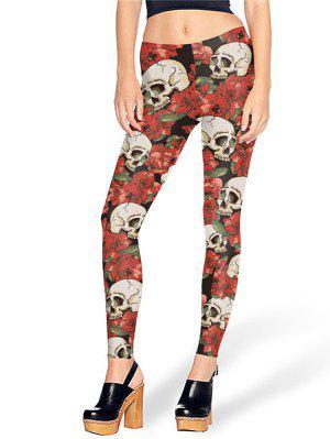 Crâne de Halloween Skull Print Leggings