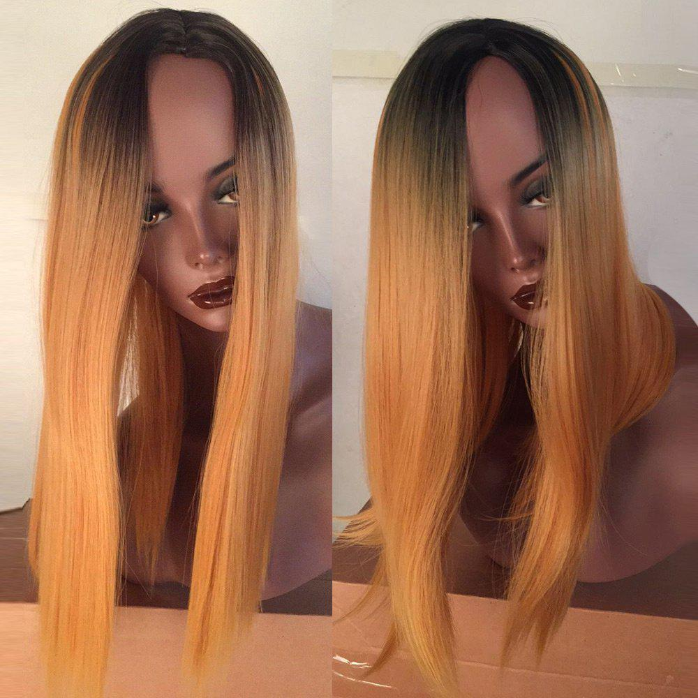 Medium Side Parting Dyed Straight Bob Colormix Synthetic Wig 221001601
