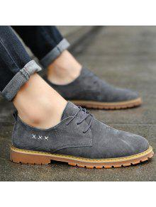 Criss Cross Lace Up Casual Shoes - Gray 39 buy cheap sneakernews cheap sale 2015 new free shipping prices iX6GI