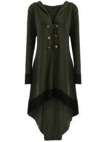 معطف الحجم الكبير رباط - الجيش الأخضر 5xl