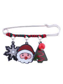 عيد ميد، سانتا، ندفة الثلج، الخرزة، زود بعمود، بروش - أحمر