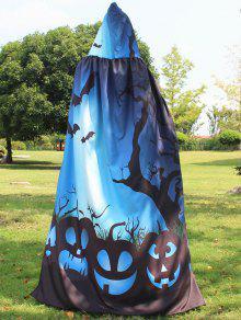 هالوين طباعة سحر عباءة - أزرق