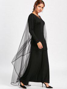 Capelet maxi dress