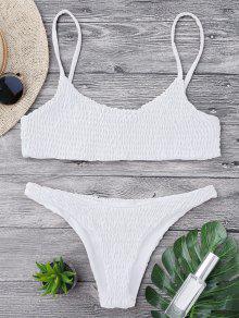 Top De Bikini Y Pantalones De Mezclilla - Blanco M