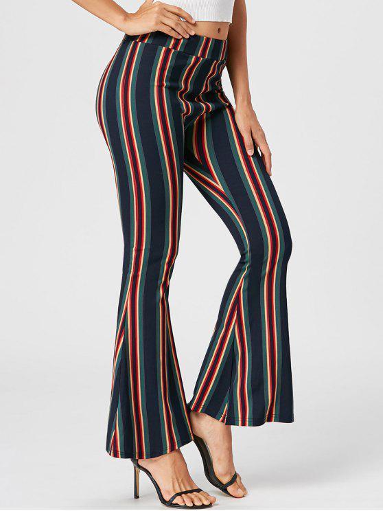 Pantalon Évasé à Rayures - Multicolore L