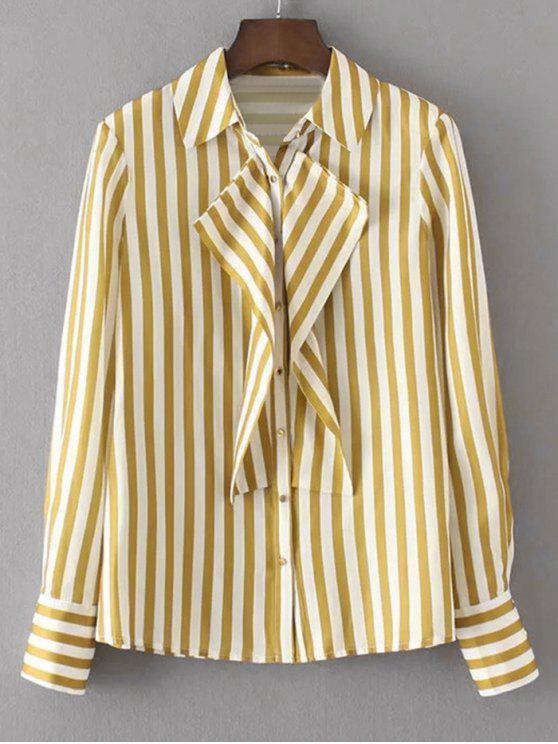 Almohadillas Flounces Stripes Shirt - Raya M