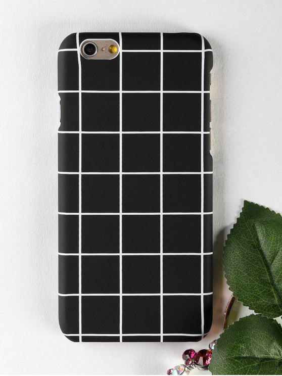 Handytasche mit Gittermuster für Iphone - Schwarz FÜR  IPHONE 6