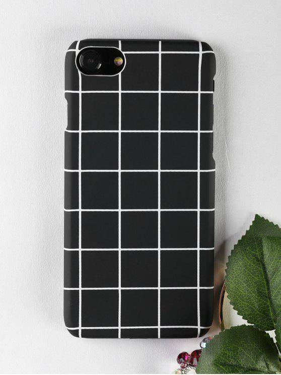 Étui de téléphone Grid Pattern pour Iphone - Noir POUR IPHONE 7