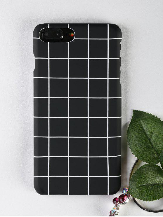 fancy Grid Pattern Phone Case For Iphone - BLACK FOR IPHONE 7 PLUS