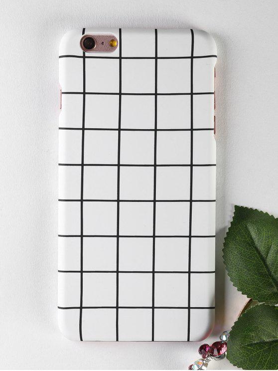 Grid Pattern teléfono caso para Iphone - Blanco PARA IPHONE 6 PLUS / 6S PLUS