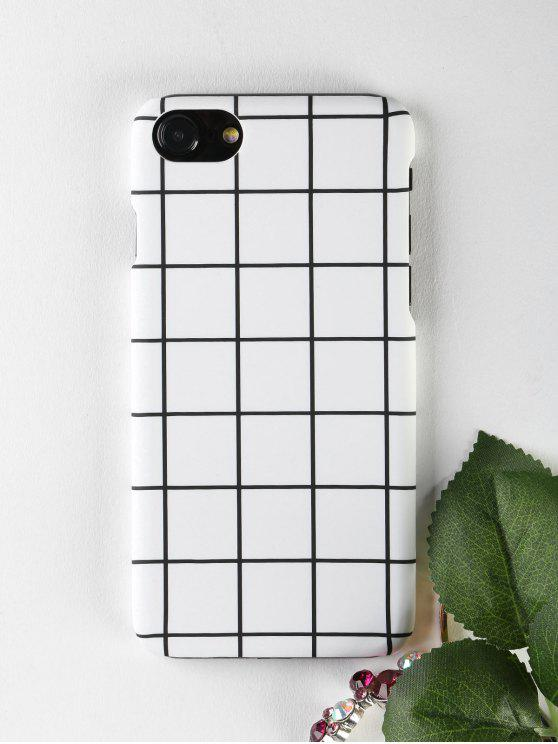 affordable Grid Pattern Phone Case For Iphone - WHITE FOR IPHONE 7