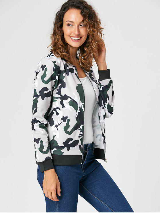 online Camouflage Zip Up Jacket - CAMOUFLAGE S
