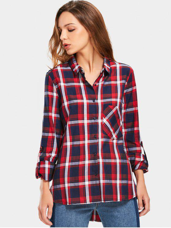 Button Up Tartan Pocket Shirt - Verificado M