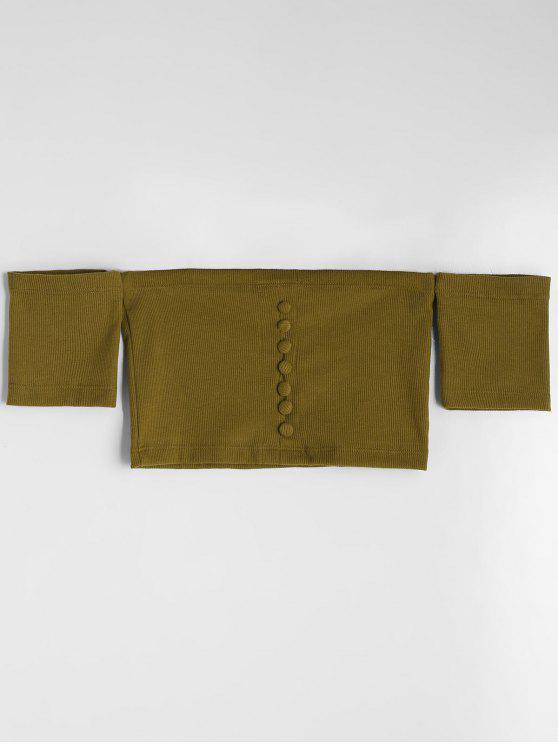 Abotonado con punto de hombro - Verde del ejército M
