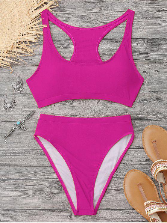 89aeaa56c92 19% OFF] 2019 Shiny High Cut Racerback Sporty Bikini In TUTTI FRUTTI ...