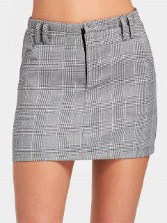 Mini Falda Con Cintura Alta - Comprobado L