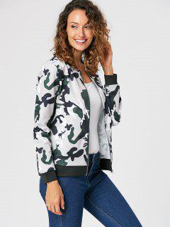 Veste Imprimée Camouflage Avec Zip - Camouflage 2xl
